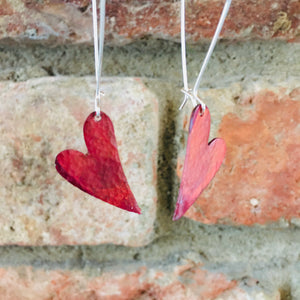 Red Heart Copper earrings
