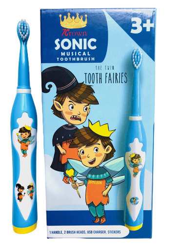 Twin Tooth Fairies Sonic Musical Toothbrush