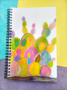 Rainbow Cactus Spiral Notebook