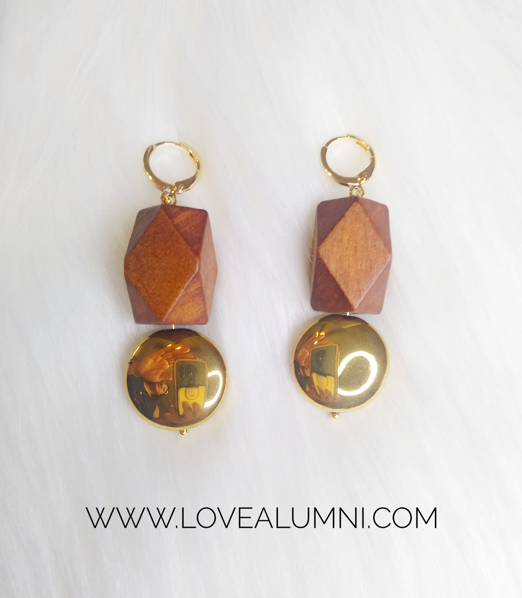Serenity Wooden Earrings