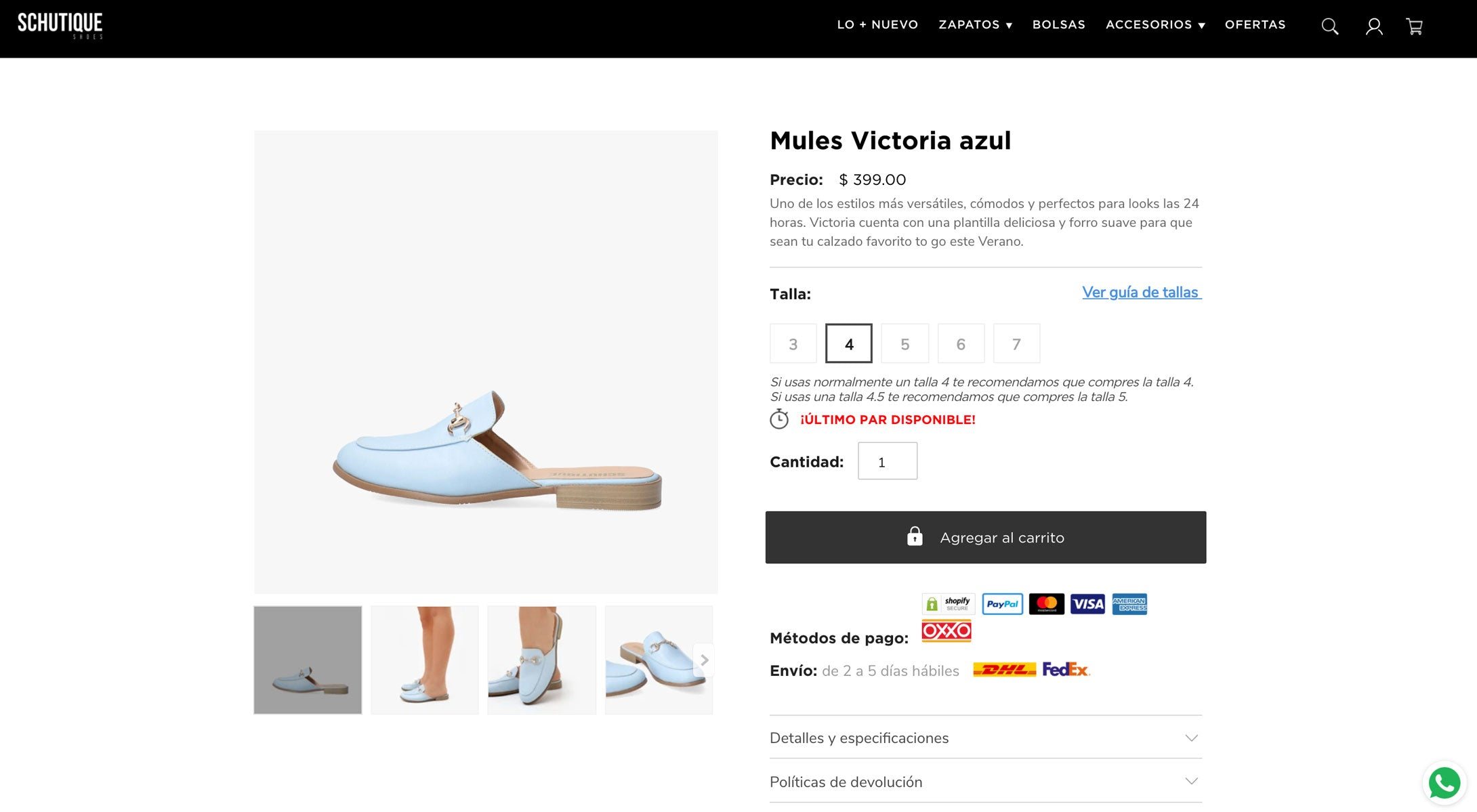 Producto Shopify