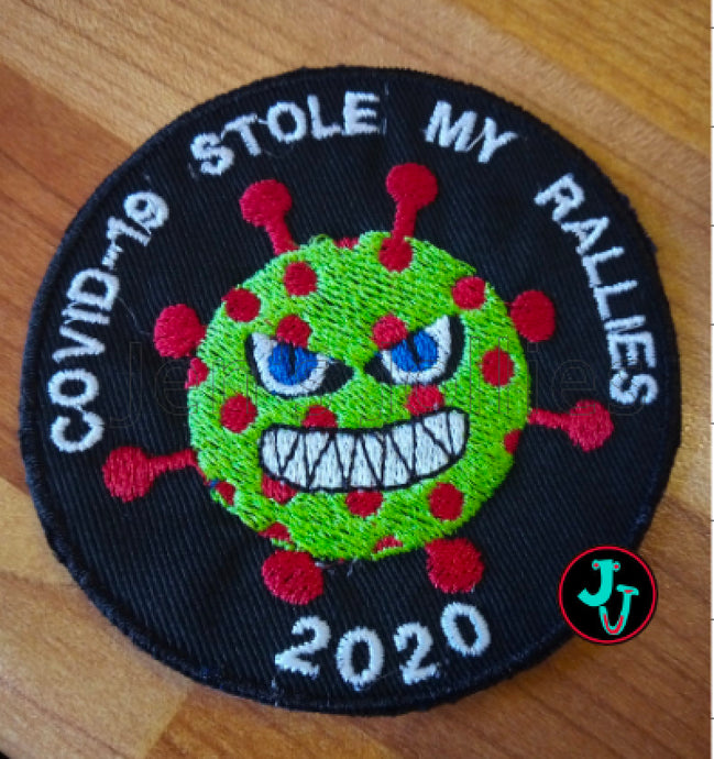 COVID-19 Stole My Rallies Iron-On Patch