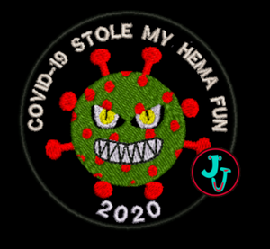COVID-19 Stole My HEMA Fun Iron-On Patch