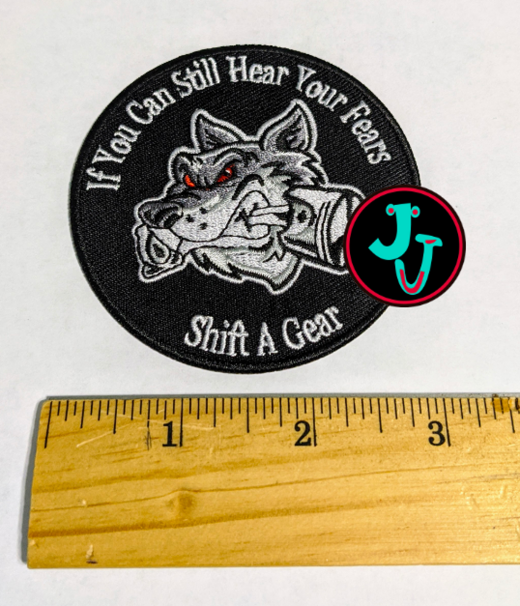 Fears Shift Gears Patch with Iron-on backing