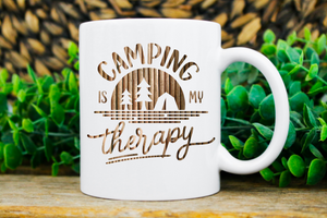 """Camping Is My Therapy"" Mug"