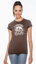 "Load image into Gallery viewer, Unisex/Mens and Womens ""Camping Is My Therapy"" Tee Shirt"