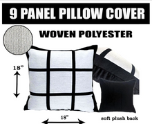 Load image into Gallery viewer, 9 Panel Sublimation Pillow