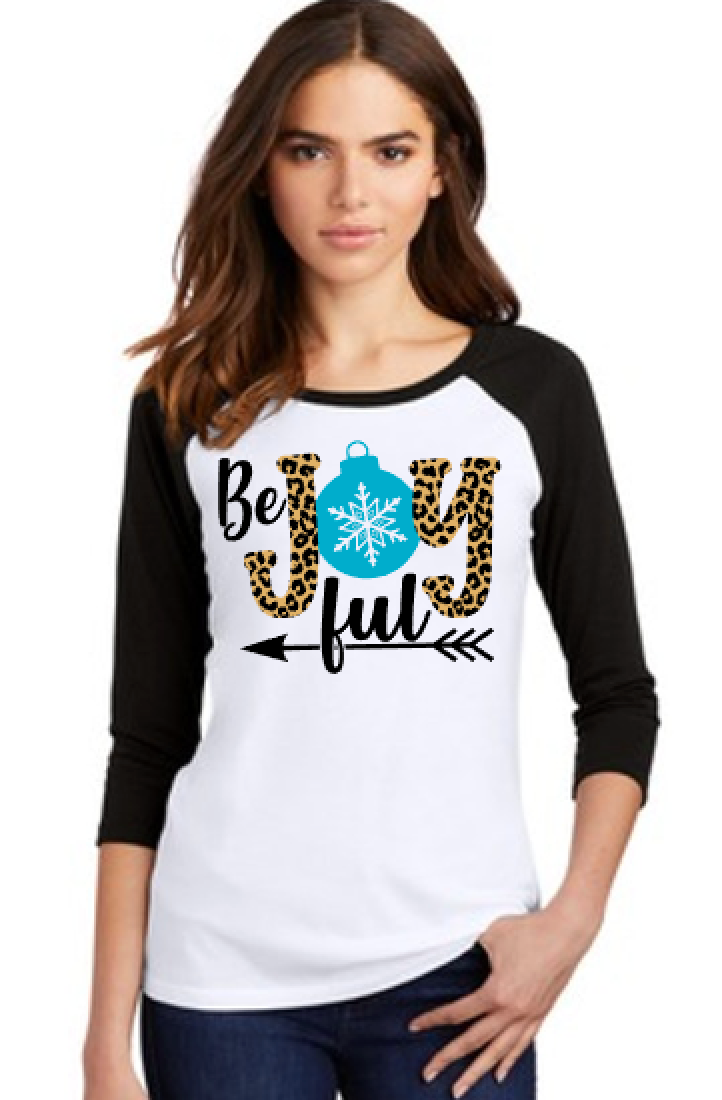 Be Joyful Sublimated Raglan