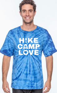 Adult Hike Camp Love Tie-Dye shirt