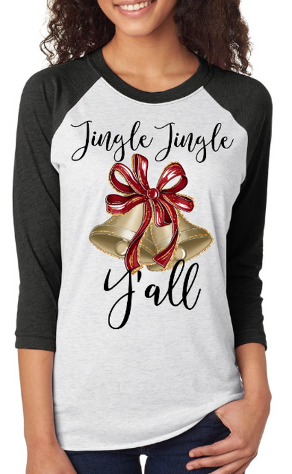 Jingle Jingle Y'all Raglan