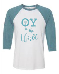 Oy To The World Hanukkah Raglan Shirt