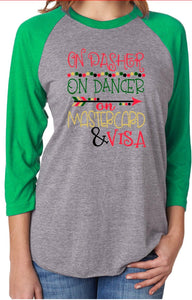 On Dasher On Dancer Unisex Raglan