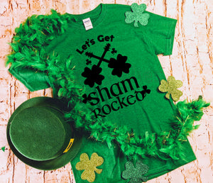 Let's Get Shamrocked Green Unisex St. Patrick's Tee Shirt