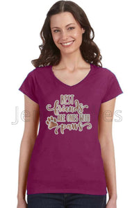Best Friends Are Ones With Paws Women's V-Neck Tee
