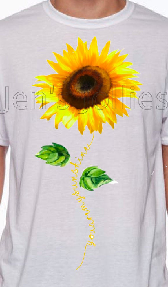 You Are My Sunshine Sublimated Unisex Tee
