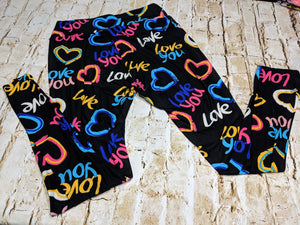 Multi-Color Love Leggings
