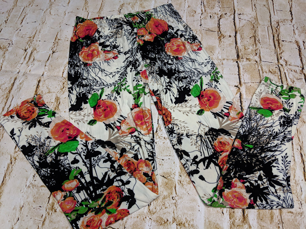 Summer Floral Leggings
