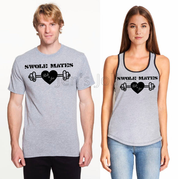 Bundle His Her Swole Mates Workout Tees