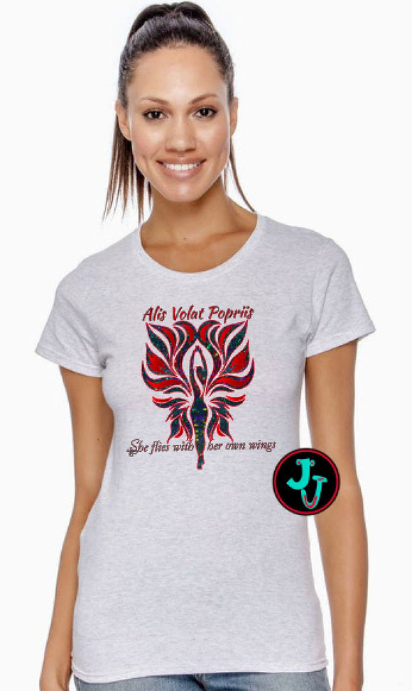 She Flies With Her Own Wings Woman's Tee