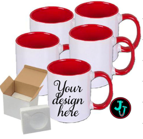 Two Tone Mug - Fully Wrapped Design Sublimated