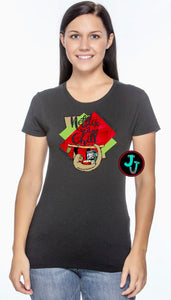 Netflix and Chill Ladies Sublimated Glitter Tee