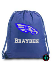 Load image into Gallery viewer, Large Drawstring Personalized Backpack