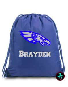 Large Drawstring Personalized Backpack