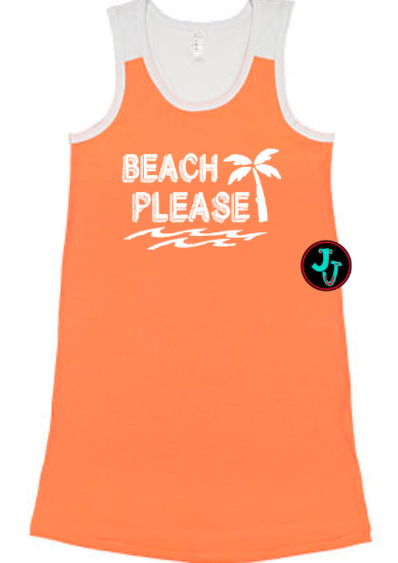 Swimsuit Cover Up Beach Please Racerback Dress