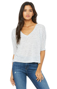Extra Salty Bella+Canvas Ladies Flowing Half Sleeve V-Neck