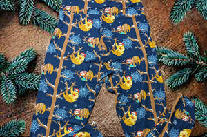 A Slothy Christmas Leggings
