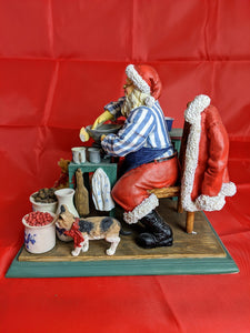 Norman Rockwell Santa Collectible