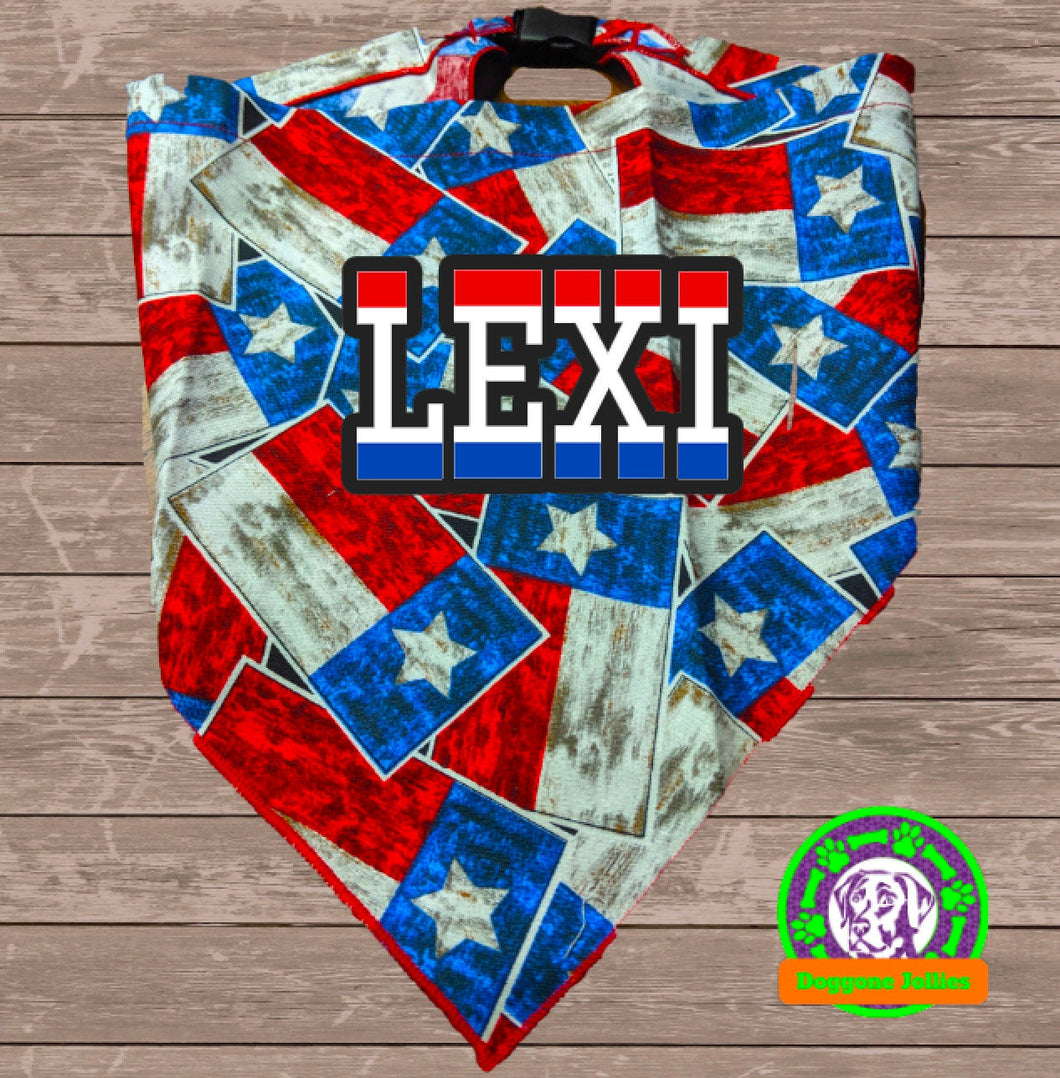 Texas Pride Snap-Closure Dog Bandana