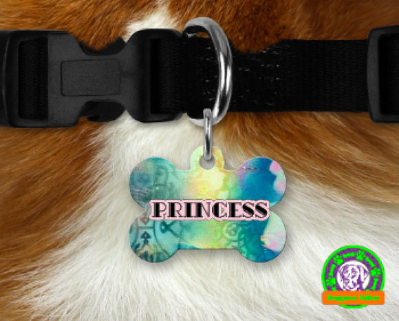 Bohemian Personalized Dog Tag