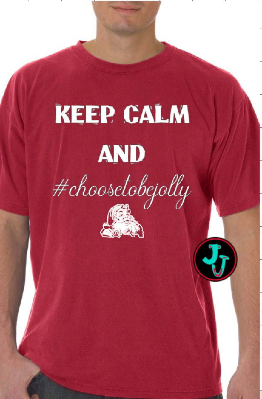 Keep Calm Jolly Unisex Comfort Colors Tee