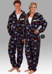 Get Lit Boxercraft Unisex Union Suit Christmas Pajamas