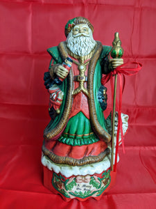 Santa Figurine Music Box Collectible