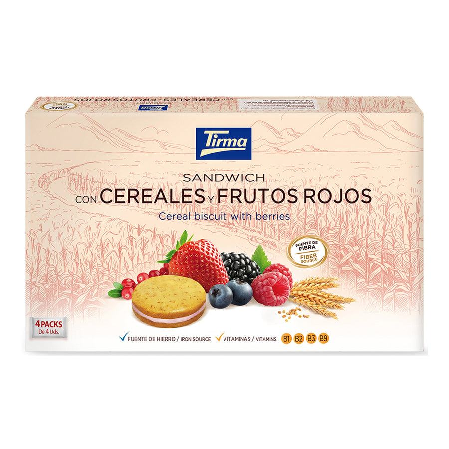 Tirma Cereal and Berry Biscuit Sandwich