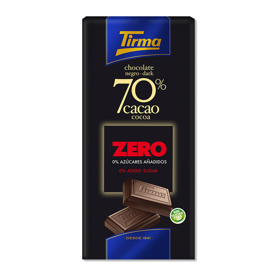 Tirma 70% dark chocolate bar - no added sugar