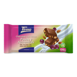 Tirma Milk Chocolate Bar with Raisins and Almonds