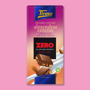 Milk Chocolate with Whole Almonds - No Added Sugar