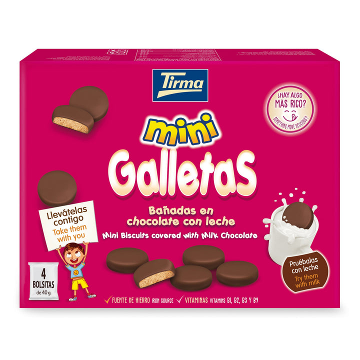 Tirma Mini Milk Chocolate Covered Biscuit