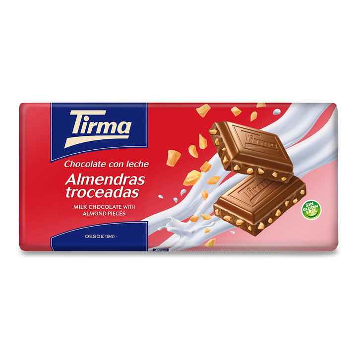 Tirma Milk Chocolate Bar with Chopped Almonds 150g