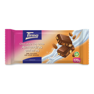 Tirma Milk Chocolate Bar with Almonds 170g