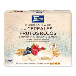 Tirma Cereal and Berry Chocolate Biscuit Sandwich Covered in White Chocolate