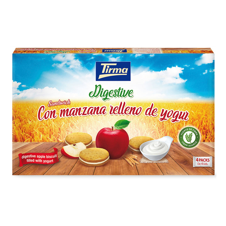 Tirma Digestive Apple Biscuit Filled with Yogurt Cream