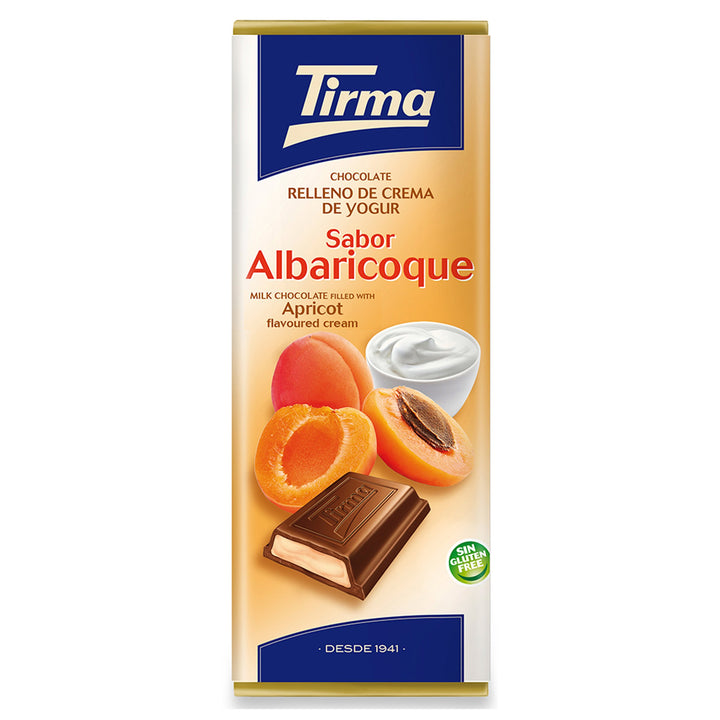 Tirma Milk chocolate filled with apricot flavoured yogurt cream