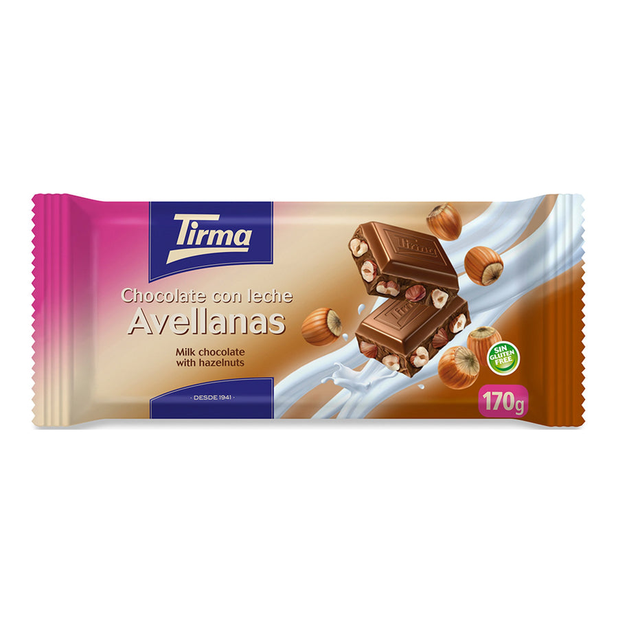 Tirma Milk Chocolate Bar with Hazelnut 170g