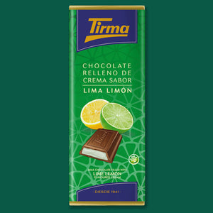 Milk chocolate filled with Lime Lemon Cream