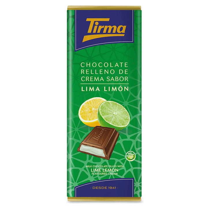 Tirma Milk Chocolate Bar filled with Lime Lemon Cream