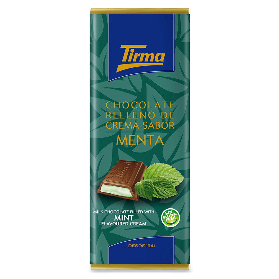 Tirma's Milk Chocolate Bar filled with Mint Cream